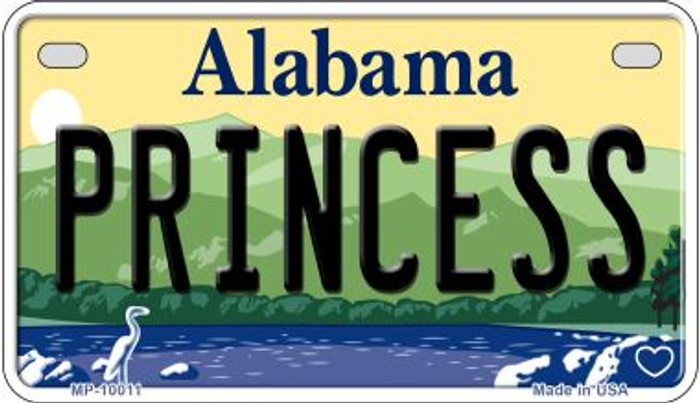 Princess Alabama Novelty Metal Motorcycle Plate MP-10011