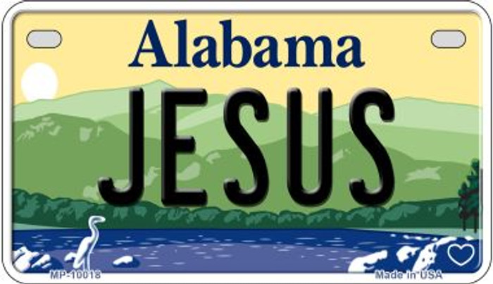 Jesus Alabama Novelty Metal Motorcycle Plate MP-10018
