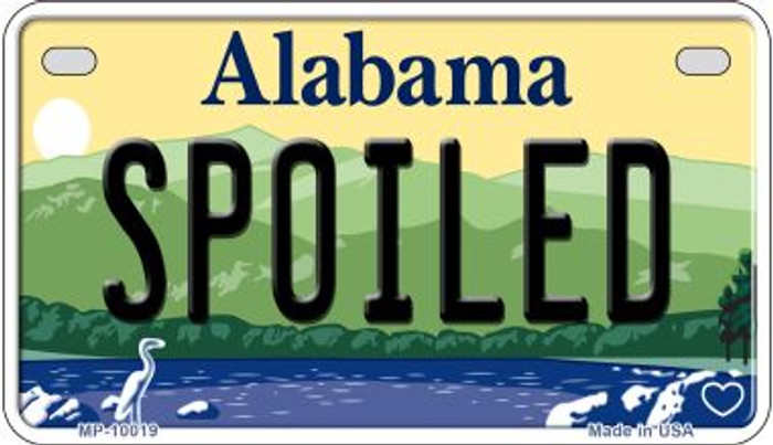 Spoiled Alabama Novelty Metal Motorcycle Plate MP-10019