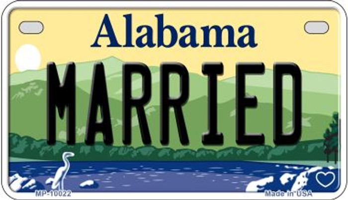 Married Alabama Novelty Metal Motorcycle Plate MP-10022