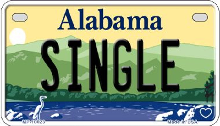 Single Alabama Novelty Metal Motorcycle Plate MP-10023