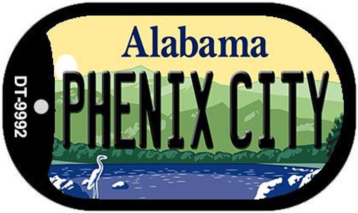Phenix City Alabama Novelty Metal Dog Tag Necklace DT-9992