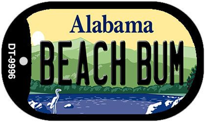 Beach Bum Alabama Novelty Metal Dog Tag Necklace DT-9996