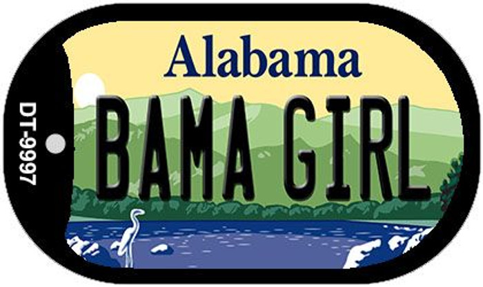 Bama Girl Alabama Novelty Metal Dog Tag Necklace DT-9997