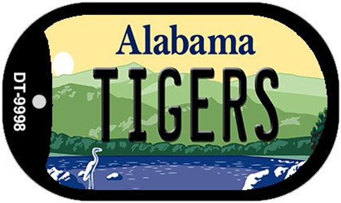 Tigers Alabama Novelty Metal Dog Tag Necklace DT-9998