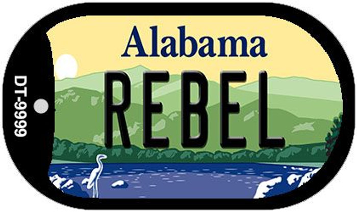 Rebel Alabama Novelty Metal Dog Tag Necklace DT-9999
