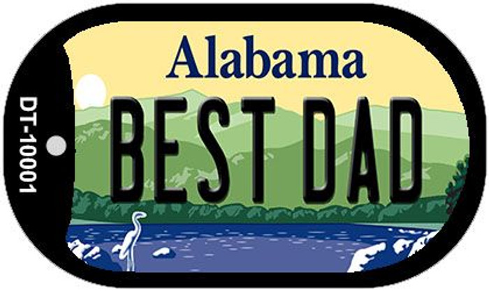 Best Dad Alabama Novelty Metal Dog Tag Necklace DT-10001