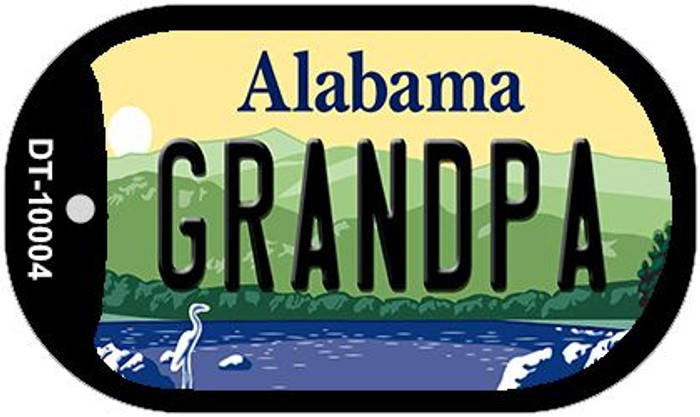 Grandpa Alabama Novelty Metal Dog Tag Necklace DT-10004