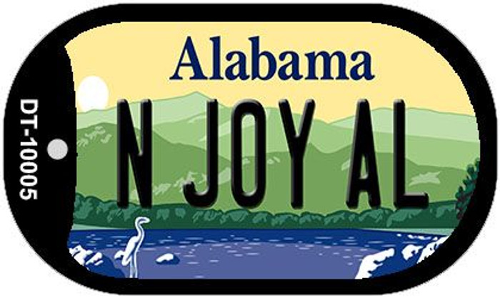 N Joy AL Alabama Novelty Metal Dog Tag Necklace DT-10005
