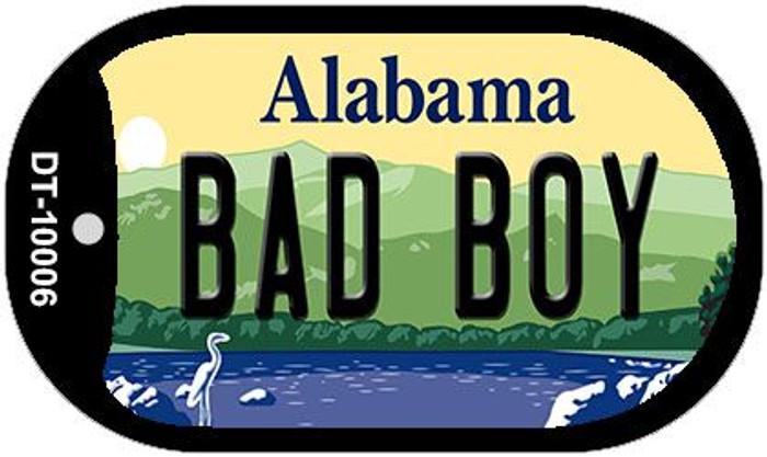 Bad Boy Alabama Novelty Metal Dog Tag Necklace DT-10006