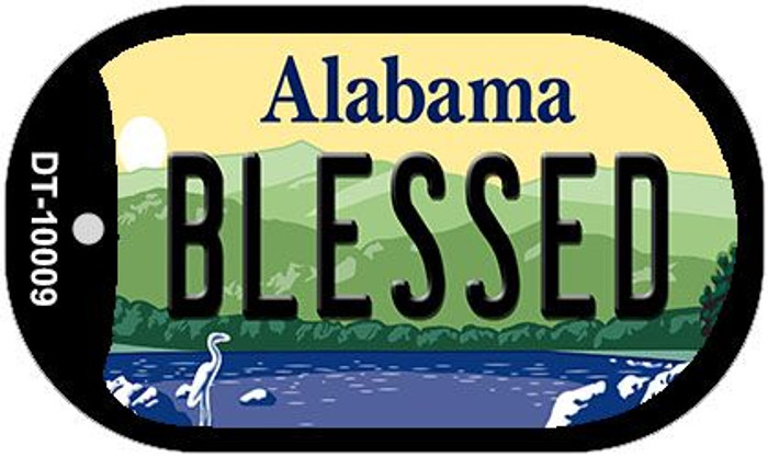 Blessed Alabama Novelty Metal Dog Tag Necklace DT-10009