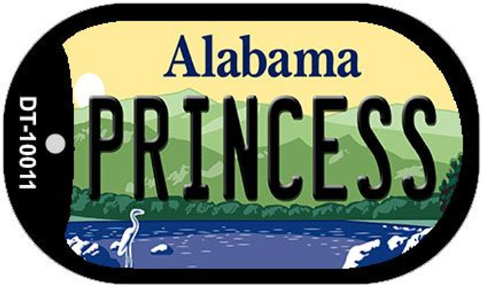 Princess Alabama Novelty Metal Dog Tag Necklace DT-10011