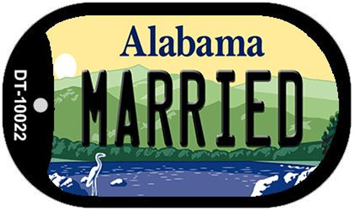 Married Alabama Novelty Metal Dog Tag Necklace DT-10022