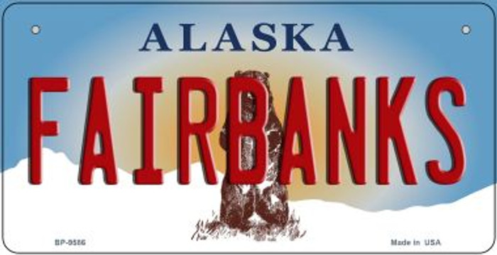 Fairbanks Alaska Novelty Metal Bicycle Plate BP-9586