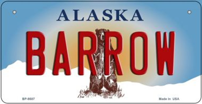 Barrow Alaska Novelty Metal Bicycle Plate BP-9587