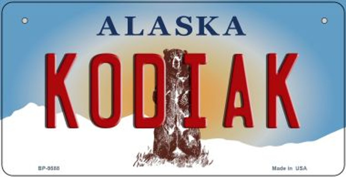 Kodiak Alaska Novelty Metal Bicycle Plate BP-9588