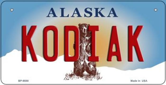 Kodiak Alaska Novelty Metal Bicycle Plate BP-9588