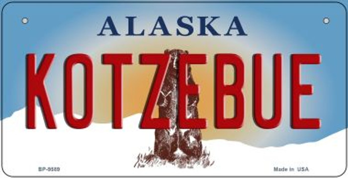 Kotzebue Alaska Novelty Metal Bicycle Plate BP-9589