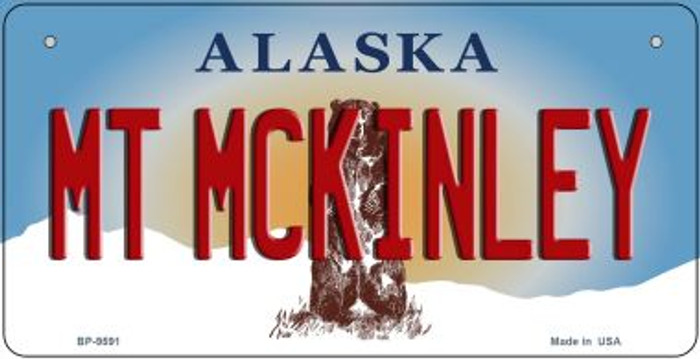 Mt McKinley Alaska Novelty Metal Bicycle Plate BP-9591