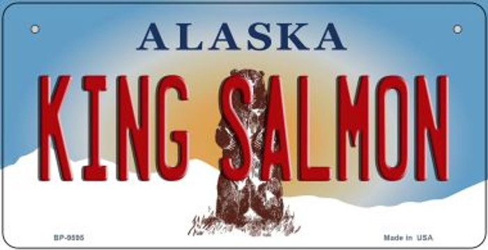 King Salmon Alaska Novelty Metal Bicycle Plate BP-9595