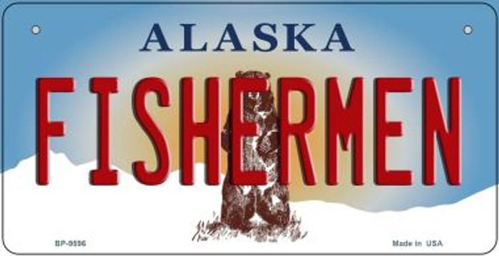 Fishermen Alaska Novelty Metal Bicycle Plate BP-9596