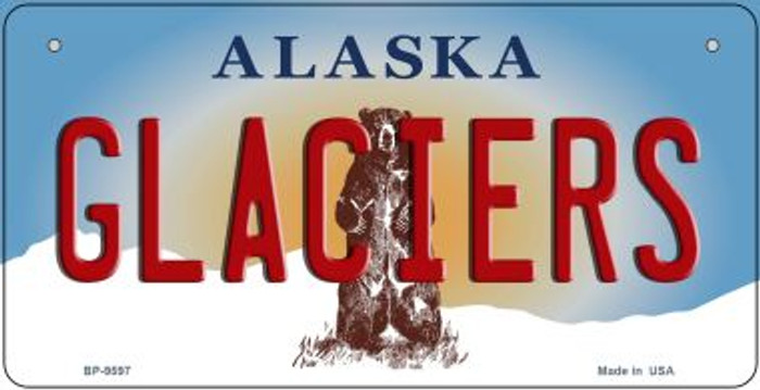 Glaciers Alaska Novelty Metal Bicycle Plate BP-9597