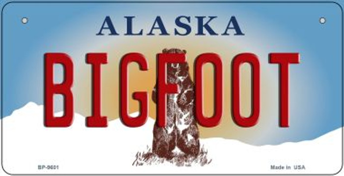 Bigfoot Alaska Novelty Metal Bicycle Plate BP-9601
