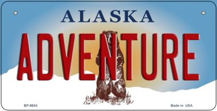Adventure Alaska Novelty Metal Bicycle Plate BP-9604
