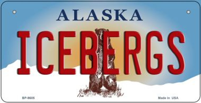 Icebergs Alaska Novelty Metal Bicycle Plate BP-9605