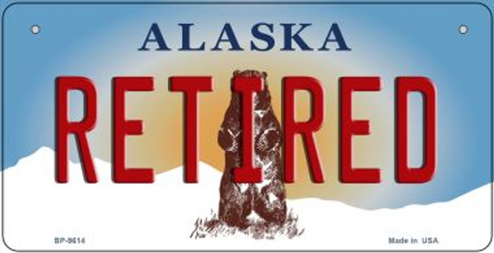 Retired Alaska Novelty Metal Bicycle Plate BP-9614