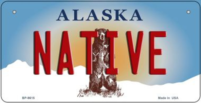 Native Alaska Novelty Metal Bicycle Plate BP-9615