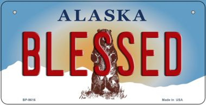 Blessed Alaska Novelty Metal Bicycle Plate BP-9616