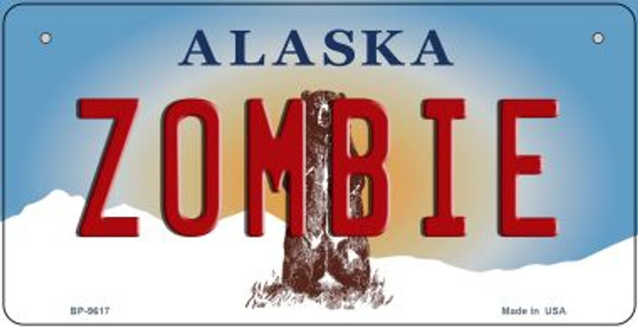 Zombie Alaska Novelty Metal Bicycle Plate BP-9617