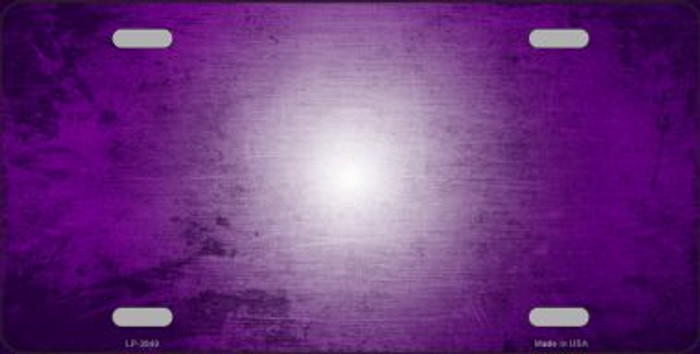 Purple White Fade Scratched License Plate Metal Novelty