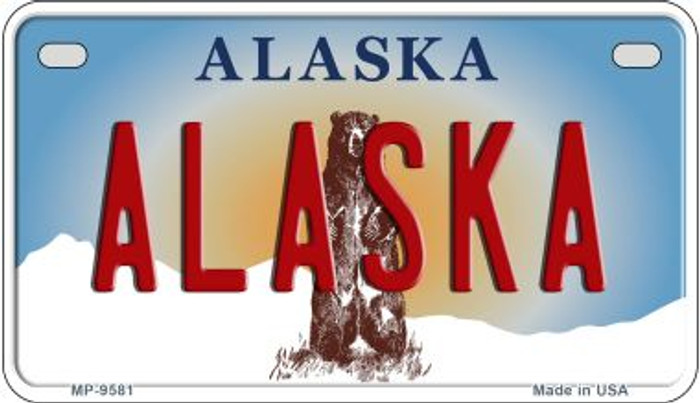 Alaska Novelty Metal Motorcycle Plate MP-9581