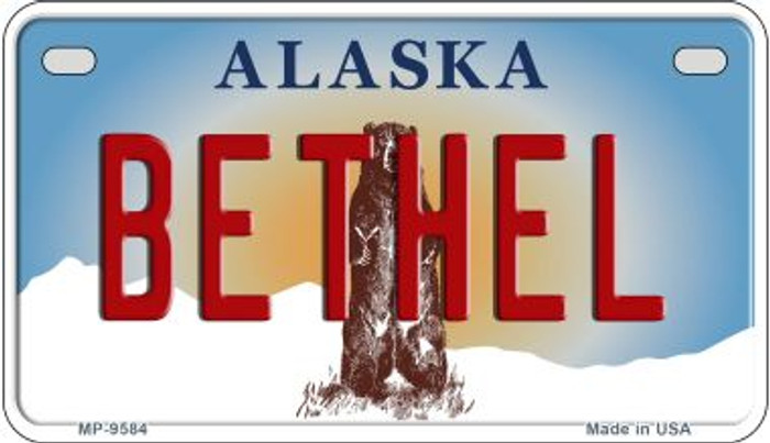 Bethel Alaska Novelty Metal Motorcycle Plate MP-9584