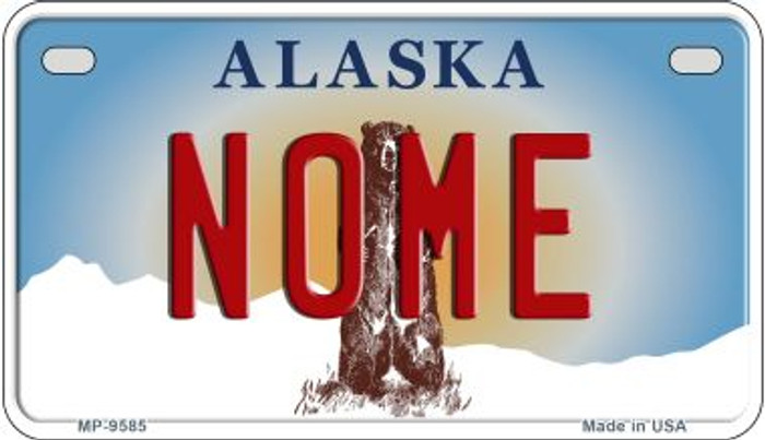 Nome Alaska Novelty Metal Motorcycle Plate MP-9585