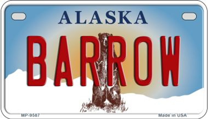 Barrow Alaska Novelty Metal Motorcycle Plate MP-9587