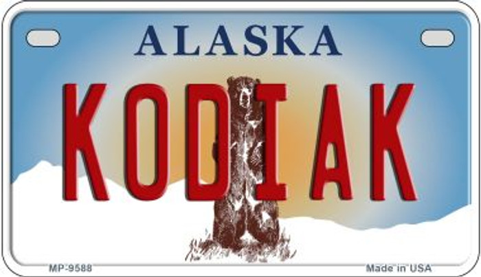 Kodiak Alaska Novelty Metal Motorcycle Plate MP-9588