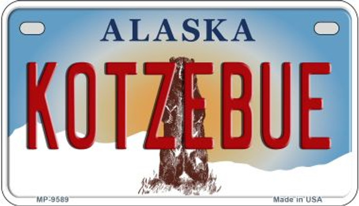 Kotzebue Alaska Novelty Metal Motorcycle Plate MP-9589
