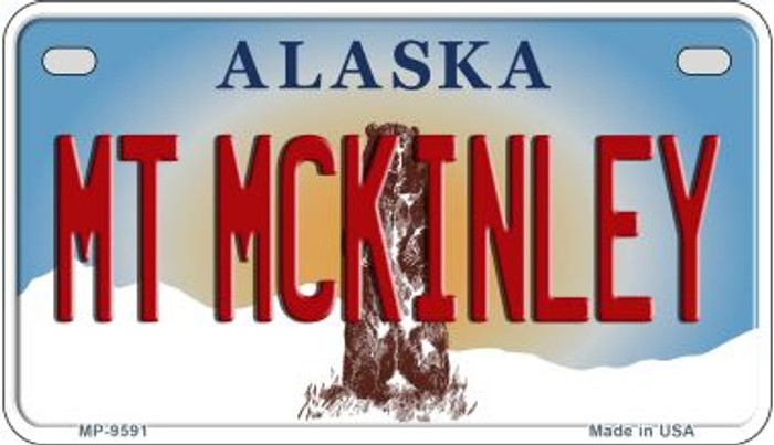 Mt McKinley Alaska Novelty Metal Motorcycle Plate MP-9591