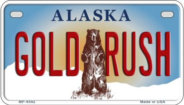 Gold Rush Alaska Novelty Metal Motorcycle Plate MP-9592