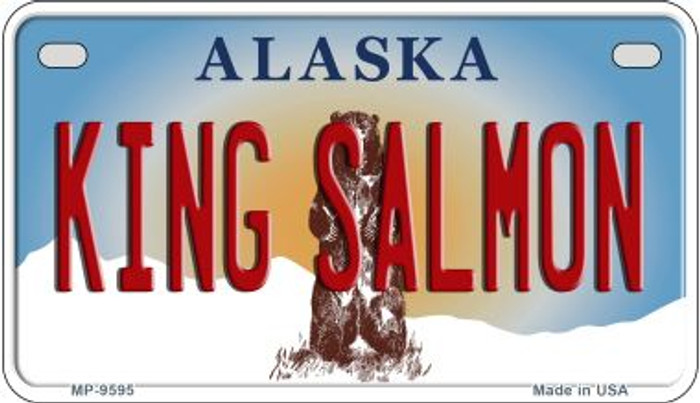 King Salmon Alaska Novelty Metal Motorcycle Plate MP-9595
