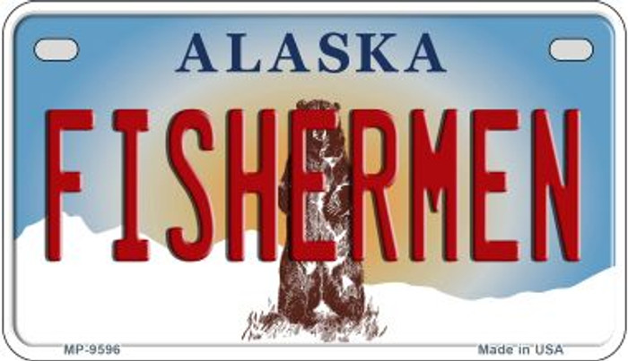 Fishermen Alaska Novelty Metal Motorcycle Plate MP-9596