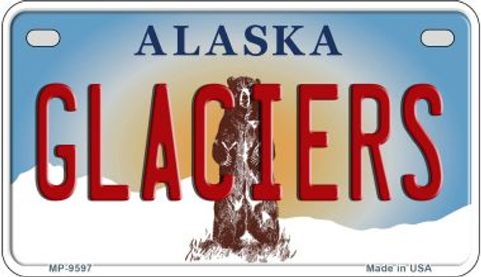 Glaciers Alaska Novelty Metal Motorcycle Plate MP-9597