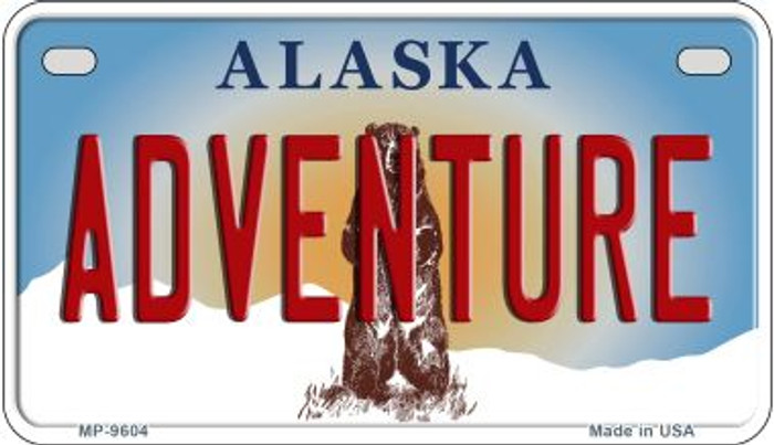 Adventure Alaska Novelty Metal Motorcycle Plate MP-9604