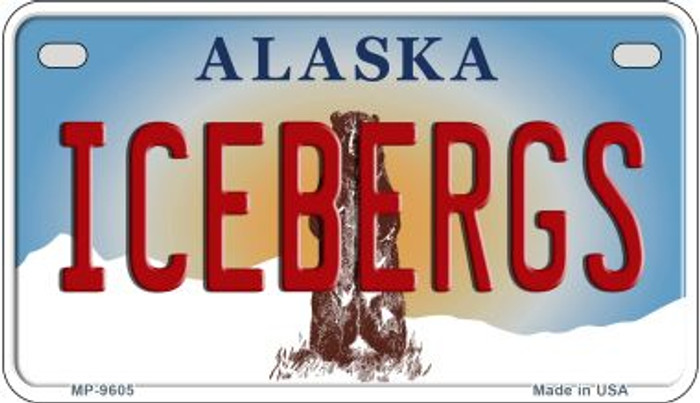 Icebergs Alaska Novelty Metal Motorcycle Plate MP-9605