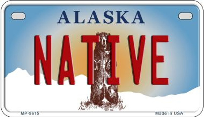 Native Alaska Novelty Metal Motorcycle Plate MP-9615