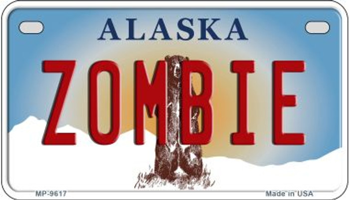 Zombie Alaska Novelty Metal Motorcycle Plate MP-9617