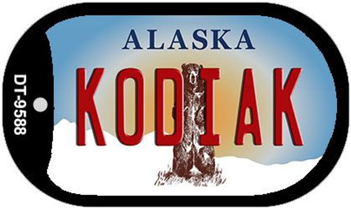Kodiak Alaska Novelty Metal Dog Tag Necklace DT-9588
